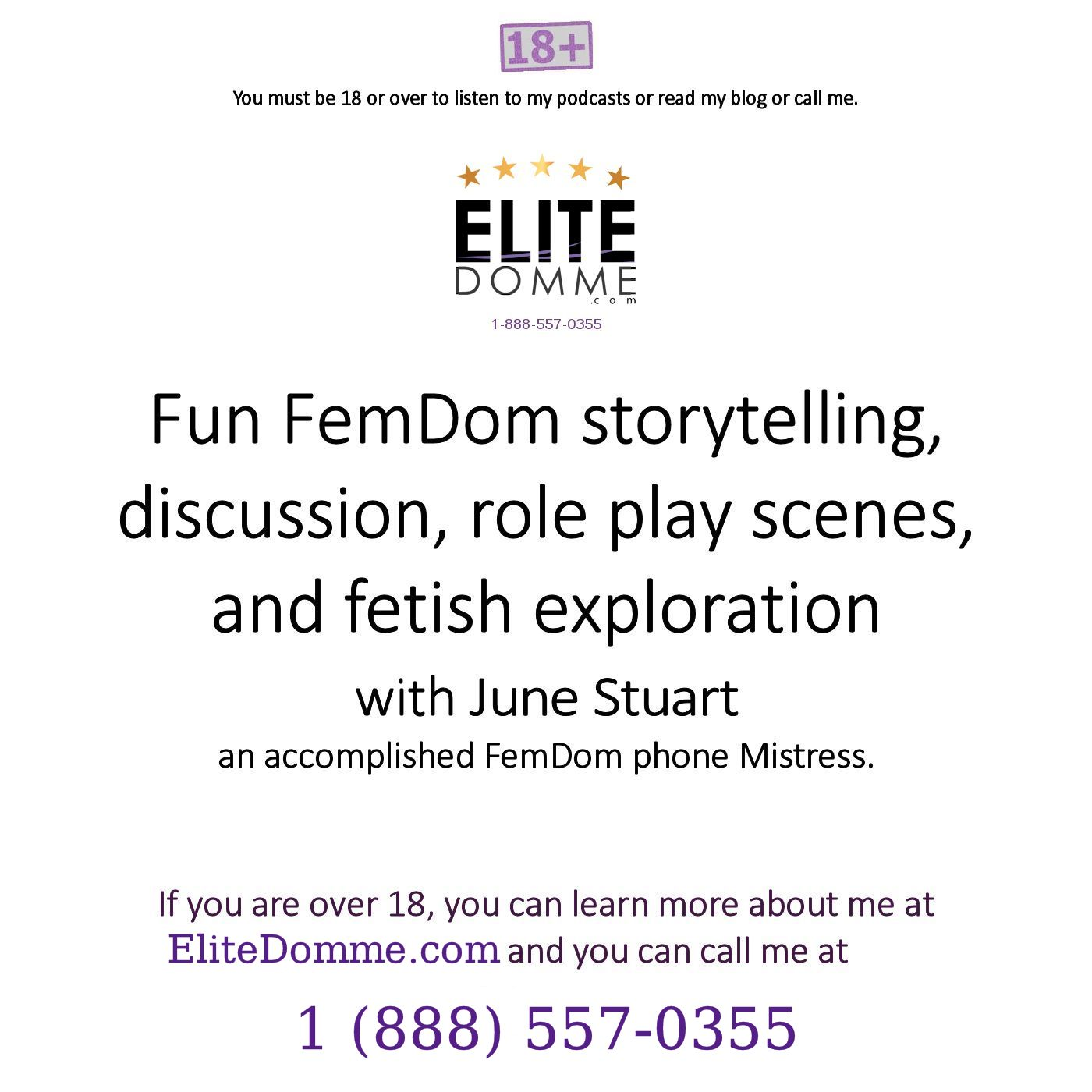 EliteDomme.com – Intelligent phone sex with a fun FemDom Mistress